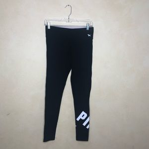 PINK Victoria's Secret Yoga Black Cotton Leggings